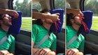 Arabada Uyuyan Adamın Ağzını Uzun Şekerlemelerle Dolduran Kötü Arkadaş