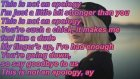 Bea Miller This Is Not an Apology Lyrics+Picture