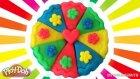 Play Doh Oyun Hamuru Dilimli Gökkuşağı Pasta