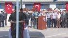Şehit polis için tören