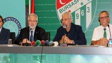 Bursaspor ile UÜ arasında işbirliği protokolü imzaladı