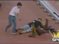 Kameramanın Usain Bolt'u Biçmesi