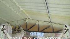 Sprey Poliüretan Köpük Trapez Saç Çatı Uygulaması