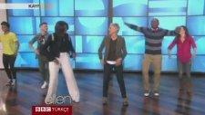 Michelle Obama'nın Ellen'in Programında Dans Etmesi
