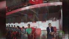 Türkiye Letonya maçından objektiflere yansıyanlar