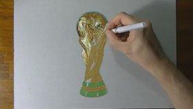 Oldukça Gerçekçi Dünya Kupası Çizimi