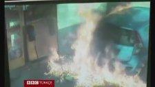 İsrailli Kadın Kudüs'te Benzin Pompasını Ateşe Verdi