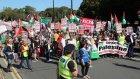 Galler'de İsrail karşıtı protesto