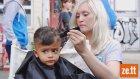 300 Kuaför Hamburg'da Suriyeli Mültecileri Ücretsiz Traş Ediyor