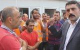 Rize Ülkü Ocağı'nın Güneydoğulu Vatandaşların Çalıştığı Şantiyeye Ziyareti