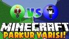 Minecraft PARKUR YARIŞI !! (Infinity Race) - ACABA KİM KAZANDI ? - w/Ali Oynuyor