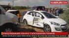 Elazığ da Başbakanlık Görevlisi Trafik Kazasında Yaralandı