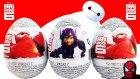 6 Süper Kahraman Sürpriz Yumurta Açma Baymax Oyuncakları