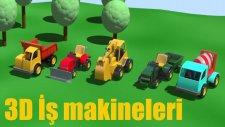 3D çizgi film - İş makineleri çocuk parkında tüm bölümler bir arada (Full HD)