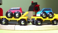 Araba taşıma treni - Brio oyuncak büyük tren seti