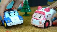 Arabalar - Polis Arabası Robocar Poli ve Ambulans Amber ilk tanışması