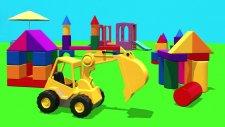 Çizgi Film - Akıllı Excavator Dodo bloklardan şehirde eksik figürleri buluyor.