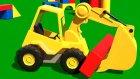Çizgi Film - Akıllı Excavator Dodo figürleri öğreniyor (Dikdörtgen prizması)