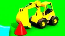Çizgi Film - Akıllı excavator Dodo figürleri öğreniyor (Koni)