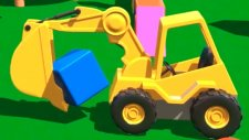 Çizgi Film - Akıllı Excavator Dodo figürleri öğreniyor (Küp)