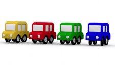 Çizgi Film - Arabalar ile renkleri öğrenelim