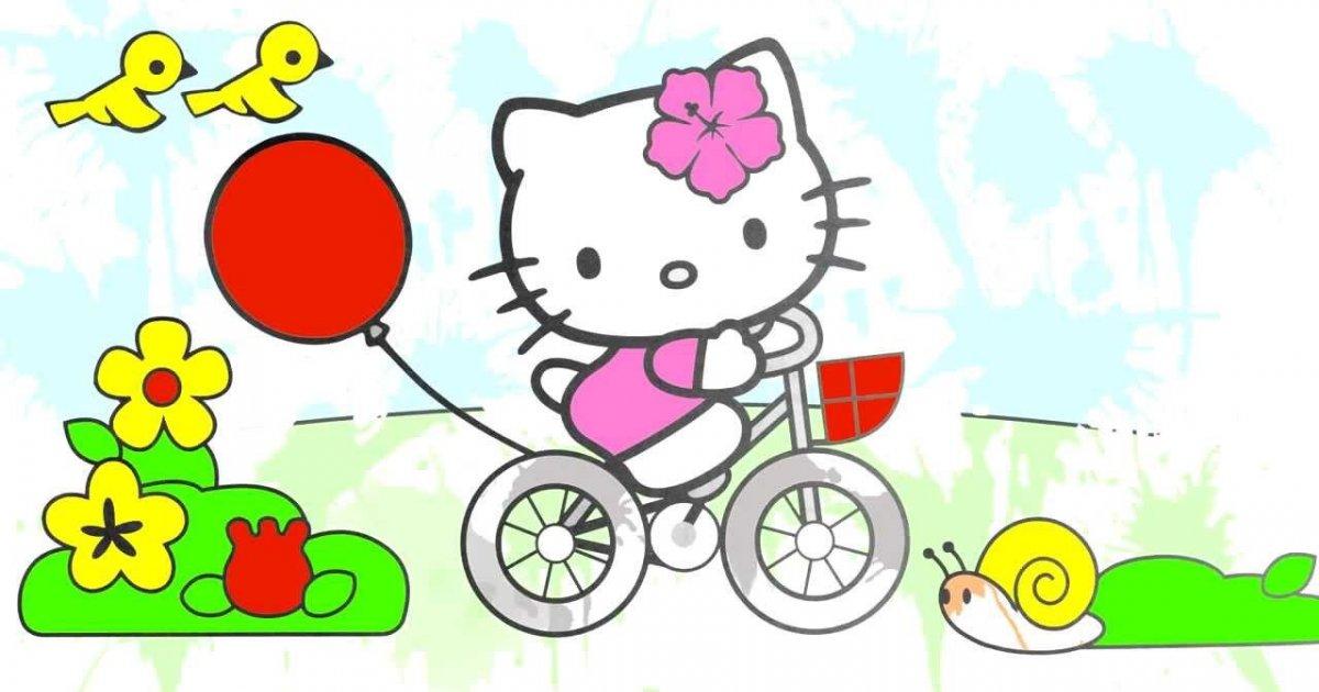 Cizgi Film Hello Kitty Boyama Kitabi Renkleri Ogreniyoruz