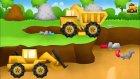 Çizgi Film - İş Makineleri Damperli kamyon ve kepçe