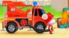 Çizgi film - İş Makineleri - İtfaiye arabası (İtfaiye kamyonu)