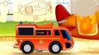 Çizgi film - İtfaiye arabası - Uçak söndürme araçları.