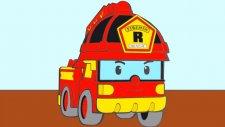 Çizgi film - Robocar Poli - Arabalar Taxi, İtfaiye ve Kepçe (Renkleri öğreniyoruz)