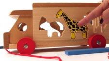 Oyuncaklarla oynuyoruz - Hayvanlar ahşap kamyonet ile ormana gidiyor