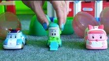 Robocar Poli - Çocuklar için video (Sürpriz yumurtalar)