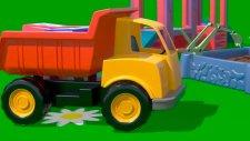 Çizgi film - İş Makineleri - Damperli Kamyon (Sayılar öğreniyoruz)