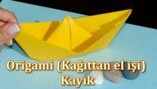 Kağıt katlama - Kayık ( Origami - boat )