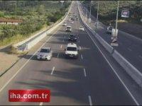 Bursa'da Israrla Ters Yöne Giren Sürücü