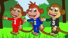 Five Little Monkeys Jumping On The Bed 2 - İngilizce Çocuk Şarkıları - Kids Songs