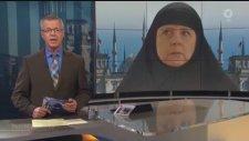 Alman Televizyonu Merkel'e Çarşaf Giydirdi
