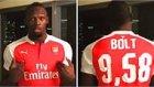 Manchester United Taraftarı Olan Usain Bolt Arsenal Forması Giydi