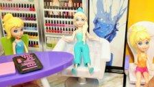 Polly Pocket güzellik salonu - Müşterimiz Kraliçe Elsa - Evcilik Oyunu Videoları - Evcilik TV