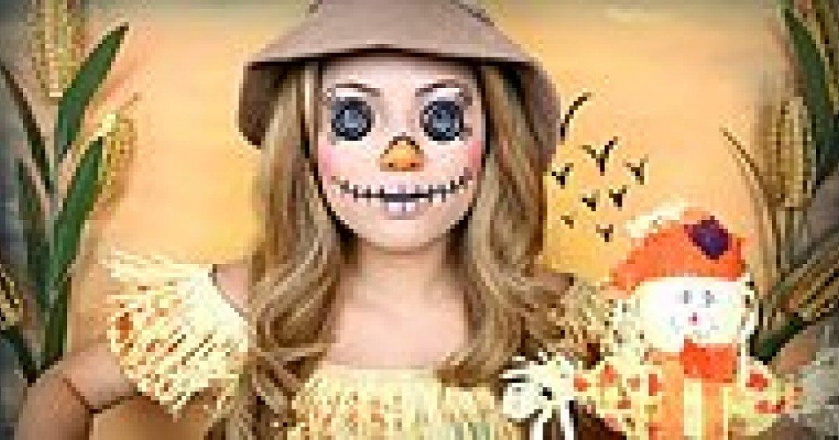 Cadılar Bayramı İçin Ürpertici Korkuluk Makyajı Nasıl Yapılı