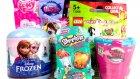 Sürpriz Oyuncak Paketleri Açma 2 Minişler MLP LEGO Zelfs Shopkins Karlar Ülkesi Oyuncakları