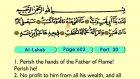 119. TAI Lahab 1-5 - The Holy Qur'an