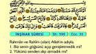 102. İnşirah - Arapça Okunuşlu - Mealli Kur'an-ı Kerim Hatim Seti