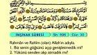 102. İnşirah - Türkçe Okunuşlu - Mealli Kur'an-ı Kerim Hatim Seti
