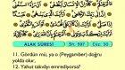 104. Alak - Arapça Okunuşlu - Mealli Kur'an-ı Kerim Hatim Seti