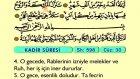 105. Kadr - Arapça Okunuşlu - Mealli Kur'an-ı Kerim Hatim Seti