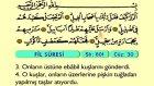 113. Fil - Arapça Okunuşlu - Mealli Kur'an-ı Kerim Hatim Seti