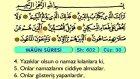 115. Maun - Arapça Okunuşlu - Mealli Kur'an-ı Kerim Hatim Seti