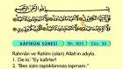 117. Kafirun - Arapça Okunuşlu - Mealli Kur'an-ı Kerim Hatim Seti