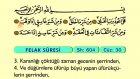 121. Felak - Türkçe Okunuşlu - Mealli Kur'an-ı Kerim Hatim Seti